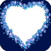 蓝色的心脏相框