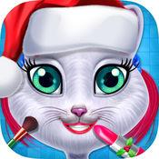 圣诞节小猫温泉沙龙 - 猫秀丽关心沙龙