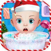 圣诞节婴儿托儿游戏 - 浴活动