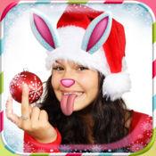 圣诞照片贴纸:新年效果 1