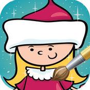 圣诞节着色页的书:圣诞老人圣诞为孩子 1.1