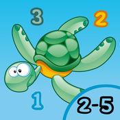 2-5岁儿童的海洋动物:幼儿园,学前班或幼儿园,海,水,鱼,甲鱼,鳗鱼和螃蟹的游戏和拼图的游戏