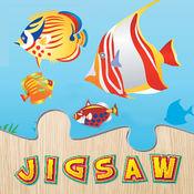 水下拼图 - 海和海洋动物拼图为孩子和幼儿 - 学前学习游戏