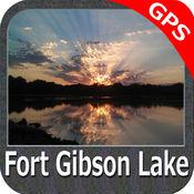 湖 : 吉布森堡 Oklahoma GPS 地图 航海家