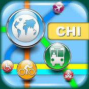 芝加哥(美国)地图 - 下载列车线路图和旅游指南