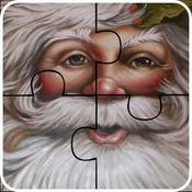 圣诞圣诞老人拼图游戏-快乐学习游戏