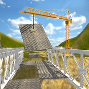 桥梁建筑起重机...