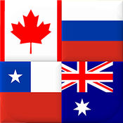 国旗 - 世界各大洲 - 新的地理测验 1