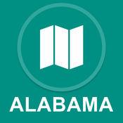 美国阿拉巴马州 : 离线GPS导航