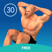 男子Situp 30天免费的挑战 1