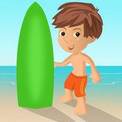 美国冲浪男孩赛车冒险亲 - 凉爽的速度的赛车街机游戏