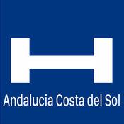 Andalucia e Costa del Sol对于今晚与地图和旅行游览比较