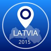 拉脱维亚离线地图+城市指南导航,景点和运输 2.5