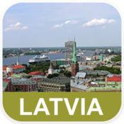 拉脱维亚 离线地图 - PLACE STARS