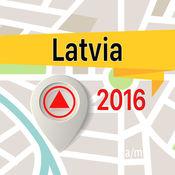 拉脱维亚 离线地图导航和指南 1