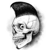 骷髅主题艺术作品收藏高清图库:个性创作名言及图片主题壁纸
