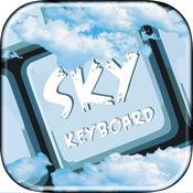 天空键盘主题与表情符号和字体为大家表演的表情符号 1