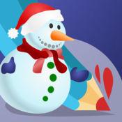 着色书 圣诞节儿童:有很多图片喜欢圣诞老人,雪人,精灵和礼物