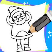 少儿绘画和儿童绘画,免费圣诞节画画书 1