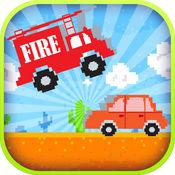 跳跃扣杀消防车行驶的赛车模拟游戏