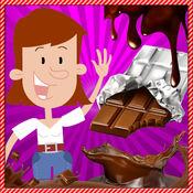 巧克力糖果制造商厨师游戏的孩子们
