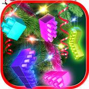 圣诞 块拼图 游戏 对于 大脑 训练 对于 孩子 和 成年人 自由