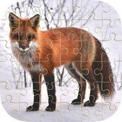 动物拼图学习益智游戏的孩子谁爱的教育记忆