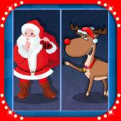 圣诞 圣诞老人的 驯鹿 和 小精灵 开玩笑 游戏