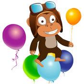 小猴子捞气球