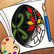 着色页为孩子们的复活节彩蛋全