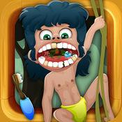 丛林博士. 牙医游戏动物 诊所的医生为孩子们 有趣的游戏宠