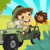 丛林野生动物园 越野赛车 - 一个有趣的冒险赛车游戏 Jungle Safari 4x4 Off Road Racing