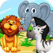 丛林徒步旅行队冒险动物与疯狂的小女孩和男孩护理 - 换装