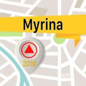 Myrina 离线地图导航和指南 1