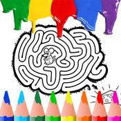 迷宮著色書頁免費為孩子蹣跚學步