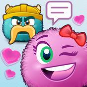 表情符号系列与可爱的贴纸短信和电子邮件