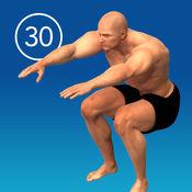男子蹲30天挑战