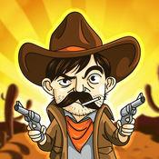 牛仔射击西岗 - 打猎驻扎在遥远的西部小镇的不法分子。