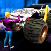 怪物 卡车 车库 - 3D 汽车 机械师