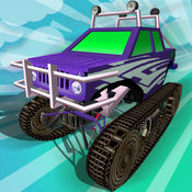 怪物卡车冰路 - 有趣的怪物卡车赛车