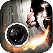 闹鬼的好莱坞恐怖图片相机贴纸游戏 - 免费游戏