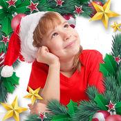 新年快乐 & 圣诞快乐 - 相框 - 创建圣诞贺卡 – 装饰贺卡