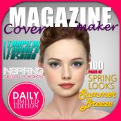 杂志模特 盖创造者 – 添加文字和设计 假头版 同 照片编辑
