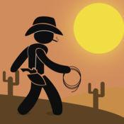 牛仔火柴人竞速对决 - 凉爽的虚拟速度运行游戏