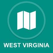 西弗吉尼亚州,美国 : 离线GPS导航 1