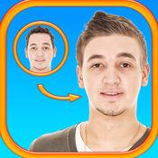 男士发型 照片蒙太奇  1