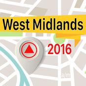 West Midlands 离线地图导航和指南 1