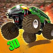 怪物卡车特技 -  4×4吉普车驾驶模拟器游戏的3D竞技场