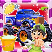 怪物卡车清洗和维修 - 通过自动汽车修理工 1