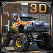 巨轮卡车的3D停车 - Monster Trucks 3D Parking